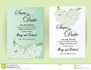 Wedding Invitation Card Flowers,jasmine Stock Vector with regard to Wedding Card Size Template