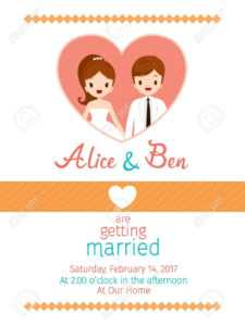 Wedding Invitation Card Template, Bride And Groom, Love, Relationship,  Sweetheart, Engagement, Valentine'S Day regarding Engagement Invitation Card Template