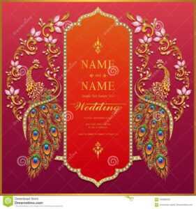 Wedding Invitation Card Templates . Stock Vector for Indian Wedding Cards Design Templates