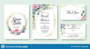 Wedding Invitation, Save The Date, Thank You, Rsvp Card within Church Invite Cards Template