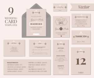 Wedding Invitation Template – Download Free Vectors, Clipart intended for Wedding Card Size Template