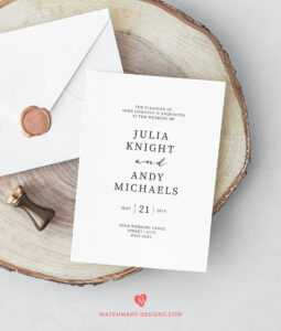 Wedding Invitations Template | Printable Wedding Invites Set inside Michaels Place Card Template