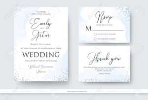 Wedding Invite, Thank You, Rsvp Card Design Set With Abstract.. inside Free Printable Wedding Rsvp Card Templates