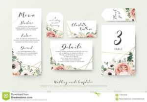 Wedding Menu, Information, Label, Table Number And Place within Table Place Card Template Free Download