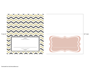 Wedding Place Card Template – Wikihow pertaining to A2 Card Template