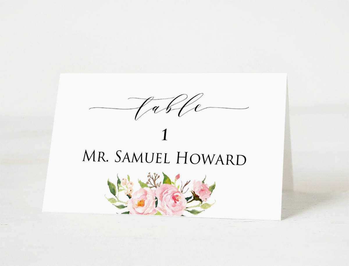 Wedding Place Cards Template Printable Head Table Card Intended For Table Name Cards Template Free