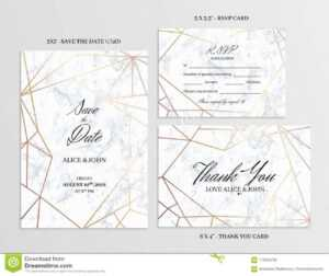 Wedding Set. Cards Template Of Geometric Design Stock Vector regarding Free Printable Wedding Rsvp Card Templates