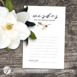 Wedding Wishes Card, Wishes For The Bride And Groom, #magnolia Collection with regard to Marriage Advice Cards Templates