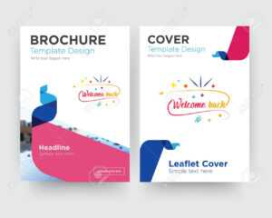 Welcome Back Brochure Flyer Design Template With Abstract Photo.. pertaining to Welcome Brochure Template