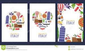 Welcome To Italy Greeting Souvenir Cards, Print Or Poster with regard to Template For Cards To Print Free