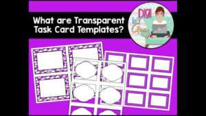 What Are Transparent Task Card Templates? within Task Card Template