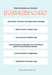 What To Put On A Personal Business Card (+ A Template inside Google Search Business Card Template
