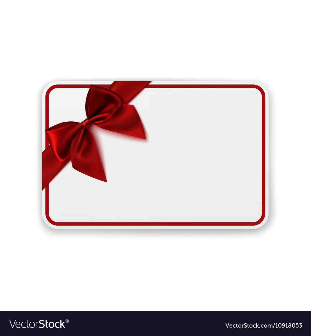 White Blank Gift Card Template In Present Card Template