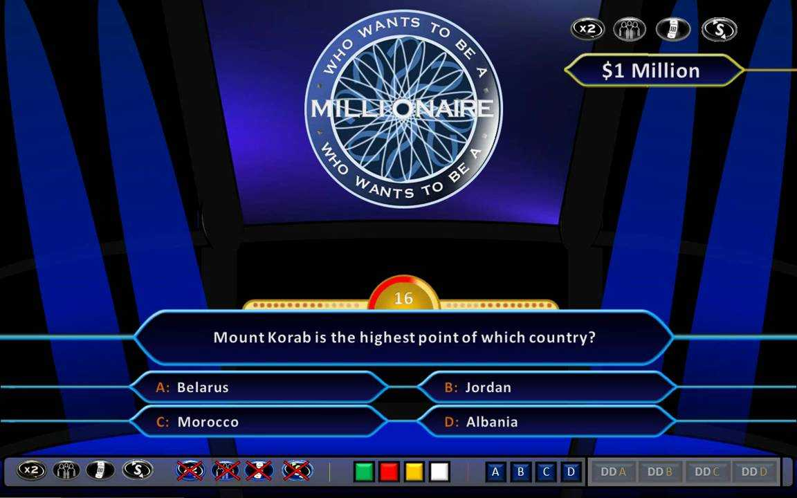 Who Wants To Be A Millionaire Demonstration [Hd, Ppt 2010, Us Clock Format] With Who Wants To Be A Millionaire Powerpoint Template