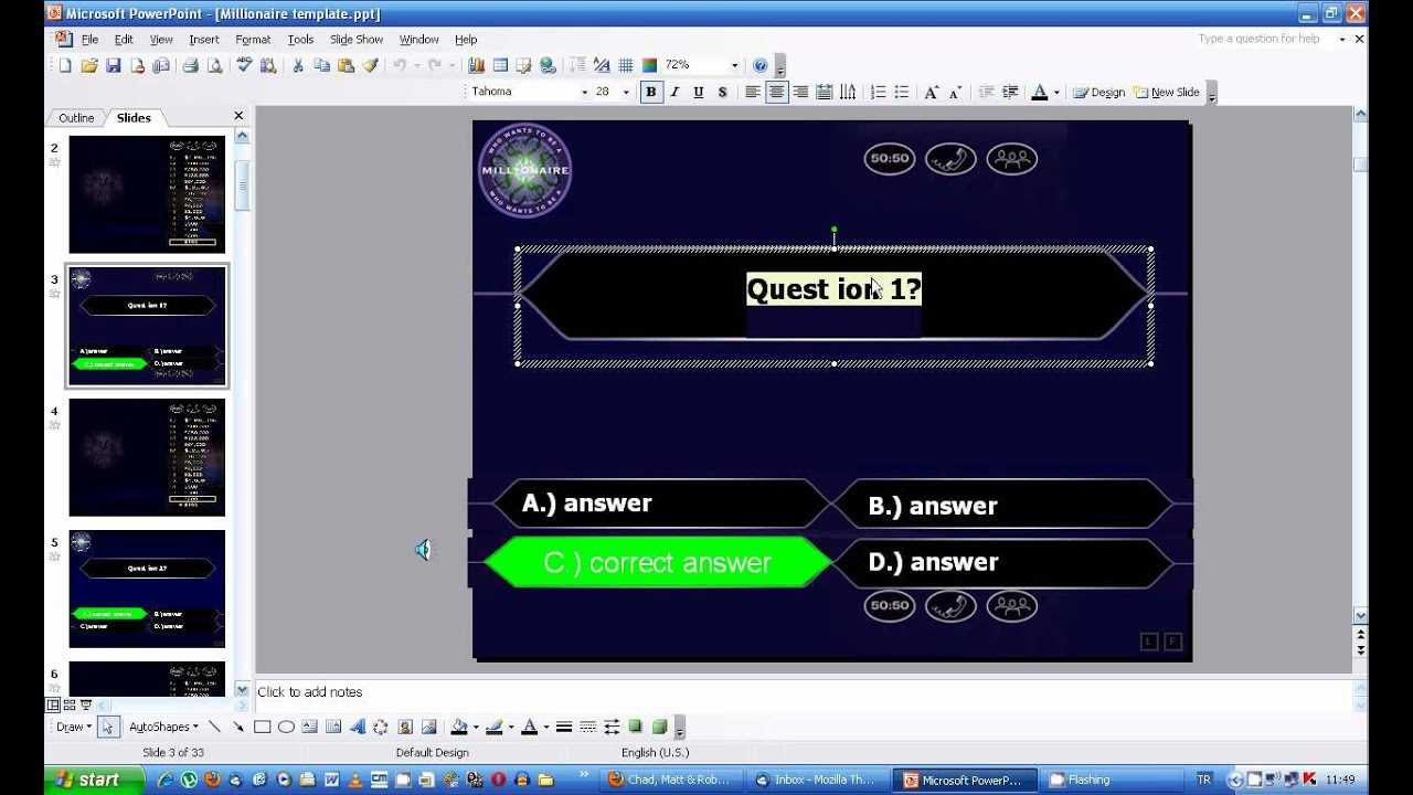 Who Wants To Be A Millionaire Powerpoint Inside Who Wants To Be A Millionaire Powerpoint Template