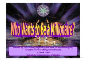 Who Wants To Be Millionaire- Powerpoint Game Template with Who Wants To Be A Millionaire Powerpoint Template
