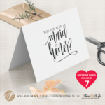Will You Be My Bridesmaid Card, Printable Set Of 7 Cards Templates intended for Will You Be My Bridesmaid Card Template