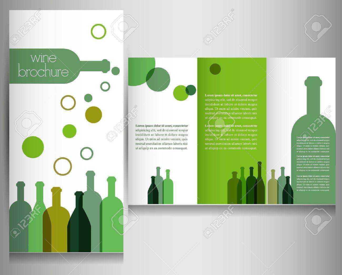 Wine Brochure Design Template Vector With Wine Brochure Template