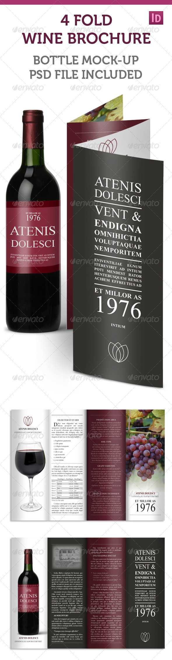 Wine Brochure Templates From Graphicriver Within Wine Brochure Template