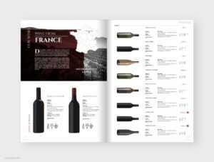 Wine Catalog Brochure Template for Wine Brochure Template