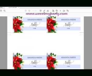 Winter Wedding Escort Cards Template Printable,christmas Place Cards  Template,(154) intended for Christmas Table Place Cards Template
