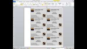 Word: How To Create Custom Business Cards with Word 2013 Business Card Template