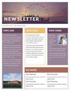 Word Newsletter Template Free – Oflu.bntl pertaining to Free Church Brochure Templates For Microsoft Word