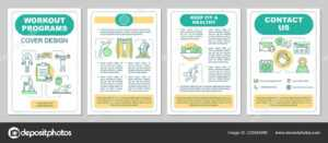 Workout Programs Brochure Template Layout Fitness Gym pertaining to Training Brochure Template