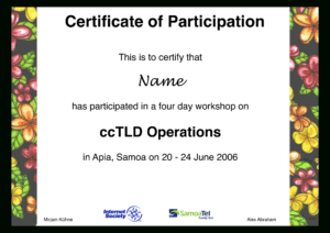 Workshop Participation Certificate | Templates At in Certificate Of Participation In Workshop Template