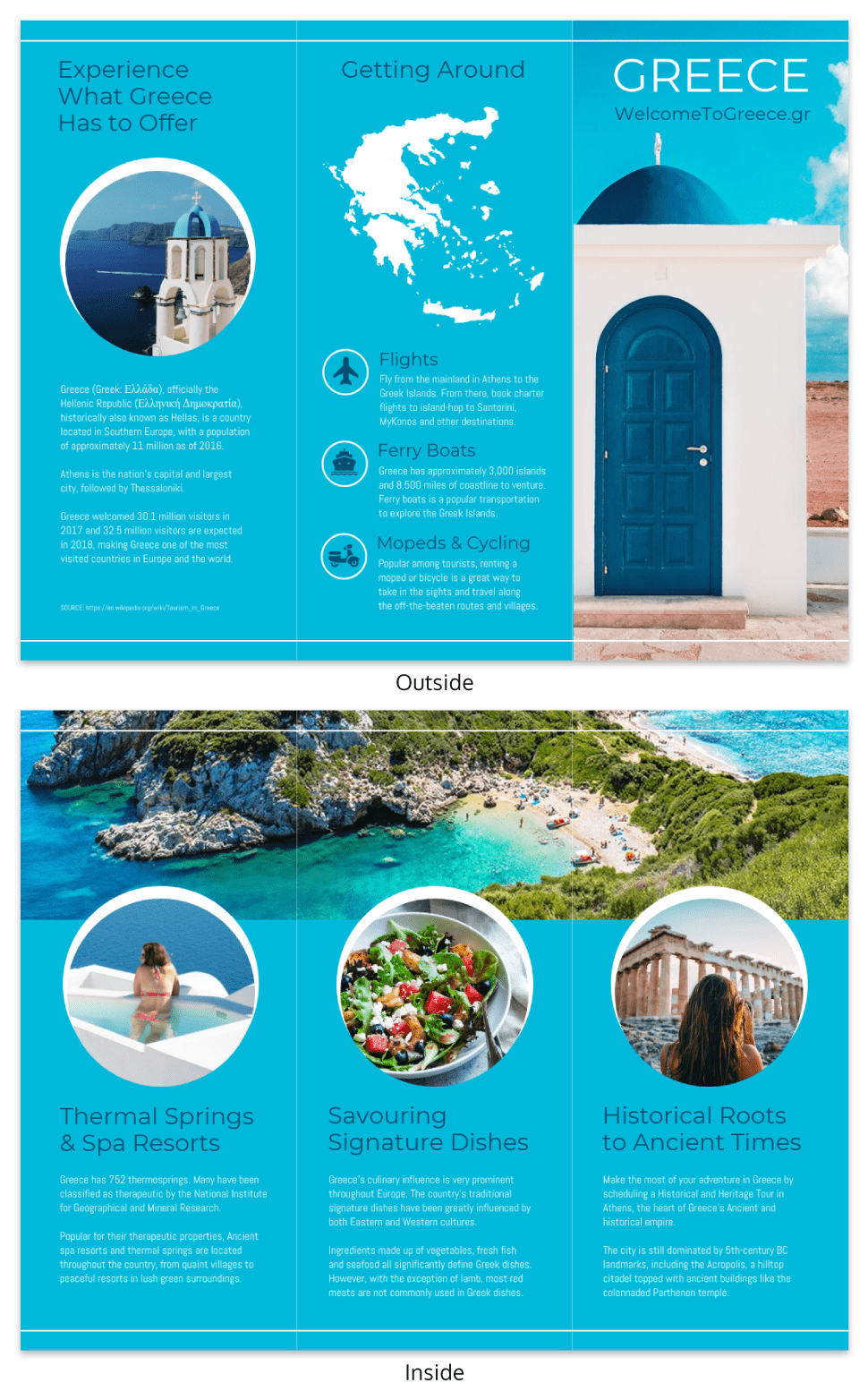 World Travel Tri Fold Brochure For Island Brochure Template