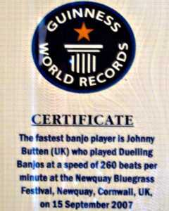 World's Fastest Banjo Picker Calls Minnesota Home | Mpr News throughout Guinness World Record Certificate Template