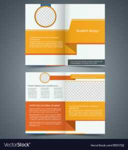 Yellow Bifold Brochure Template Design for Free Illustrator Brochure Templates Download