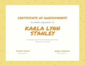 Yellow, Orange And Cream Dots Funny Certificate – Templates in Funny Certificate Templates