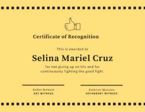 Yellow Thumbs Up Funny Certificate – Templatescanva intended for Funny Certificate Templates