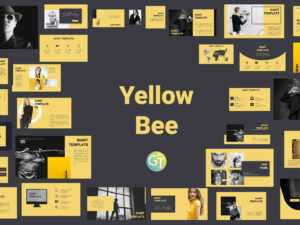 Yellowbee Free Powerpoint Template Free Downloadgiant inside Powerpoint Animation Templates Free Download