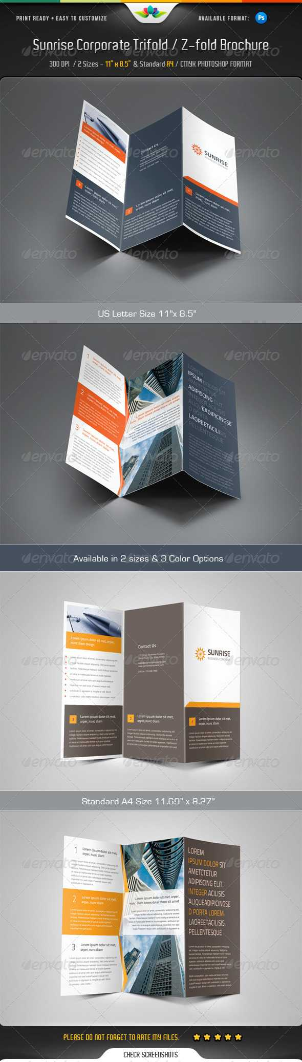 Z Fold Brochure Templates From Graphicriver Within Z Fold Brochure Template Indesign