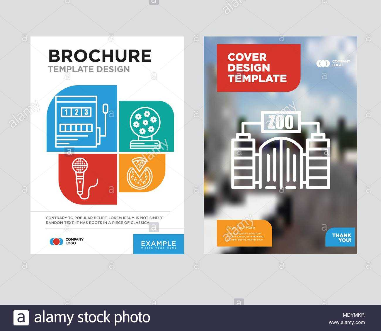 Zoo Brochure Flyer Design Template With Abstract Photo For Zoo Brochure Template