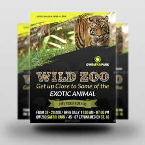 Zoo Flyer Template pertaining to Zoo Brochure Template