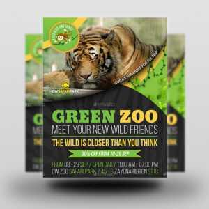Zoo Safari Flyer Template Vol.2 throughout Zoo Brochure Template